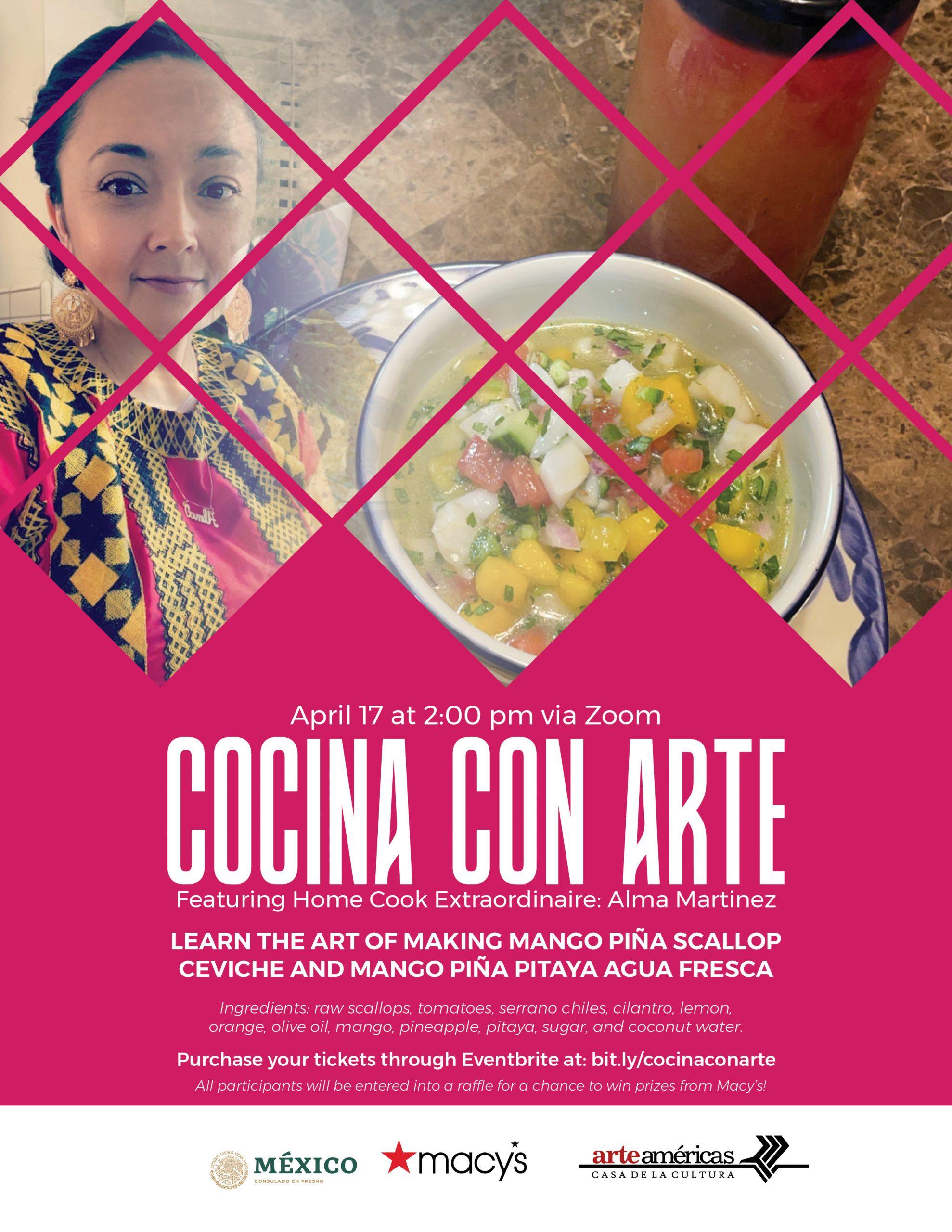 cocina con arte flyer