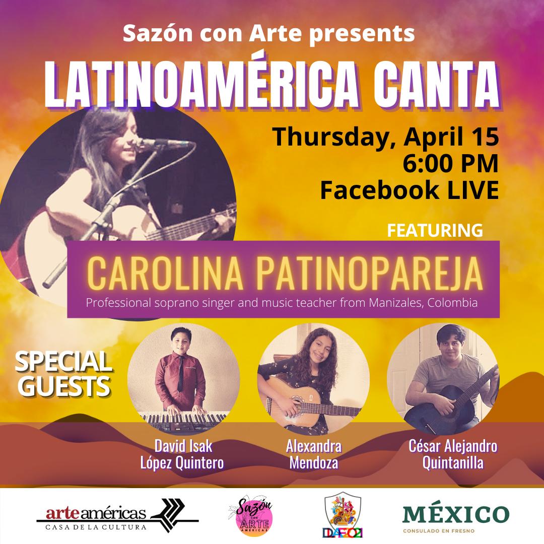 Latinoamerica canta event flyer