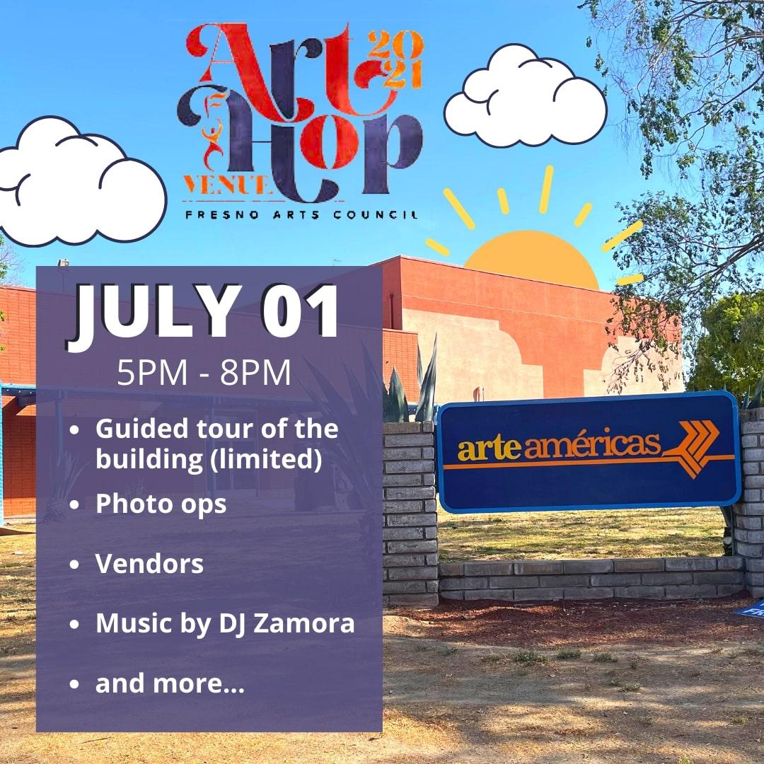 july 2021 art hop flyer